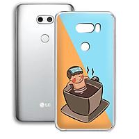 Ốp lưng điện thoại LG V30 - 01253 7896 RELAX02 - in hình chibi dễ thương - Silicon dẻo - Hàng Chính Hãng