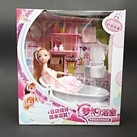 Phòng tắm cho búp bê barbie Đồ chơi mô hình cho bé (chạy pin)