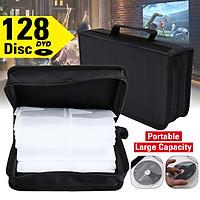 128pcs Disc CD DVD PC Driver Disc  Storage Bag Carry Case Holder Protector Wallet Binder  Portable Black Silk Cloth