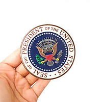 Seal of the President of the US - Sticker hình dán metal kim loại 3D
