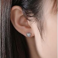 Bông tai khuyên tai bạc S925 đá Cz trái tim nhỏ sát tai