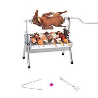 Bếp nướng than hoa đa năng TOPV: Nướng 2 trong 1, lò nướng than Inox bền sạch, lò quay vịt gia đình, bếp nướng than DNS