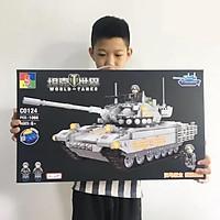 Xếp hình lắp ráp xe tăng C0124