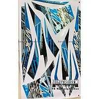 Tem uv ép nhiệt dành cho xe EXCITER 2011 mẫu  MX xanh đen (bộ)