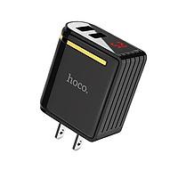Củ sạc nhanh 2 cổng usb 2,4A Hoco C39 có đồng hồ đo dòng điện tự nhận điện và cho hiệu suất sạc phù hợp nhất - hàng chính hãng