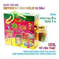 MUA HỘP 6 TẶNG 1 - Nước yến sào SkyNest Kid Gold vị dâu cho trẻ nhỏ 15% Tổ yến