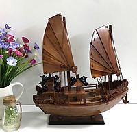 Mô hình thuyền gỗ trang trí Hạ Long Rồng - thân tàu 30cm - gỗ cẩm lai