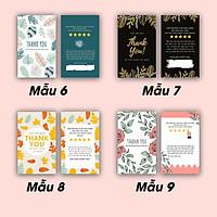Hộp 100 card cám ơn, card Thank you họa tiết Hoa (9 mẫu) dành riêng cho shop bán hàng