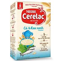 Bột ăn dặm Nestlé CERELAC CÁ VÀ RAU XANH hộp 200g (từ 8 tháng)