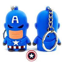 Móc khóa Captain America hình ngón tay có đèn nhạc Marvel Avenger