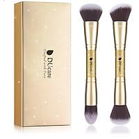 Combo cọ trang điểm DUcare 2 PCS Double-ended Makeup Brushes Foundation Powder Contour Brush