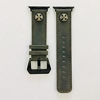 Dây đeo cho Apple Watch hiệu CAMYSE Leather Vintage Buttoning 2 - hàng nhập khẩu