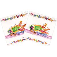 Combo 2 Xấp Khăn Giấy Ăn Trang Trí Bàn Tiệc Tissue Napkins Design Ti-Flair 371719 (33 x 33 cm) - 40 tờ