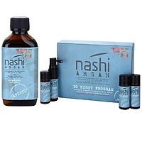 Bộ dầu gội + Tinh chất ngăn rụng tóc, kích thích mọc tóc Nashi Argan Capixyl 200ml + 30 night intensive treatment 4x20ml Italy