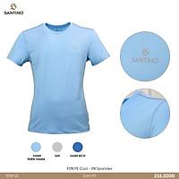 Áo thun nam ngắn tay không cổ Santino chất liệu Thể Thao co giãn 4 chiều thoải mái, phù hợp mọi độ tuổi TST255B720