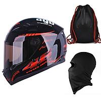 Mũ Bảo Hiểm Đẹp Fullface AGU Tem 14  + Khăn Ninja + Tặng kèm túi đựng nón chống trầy