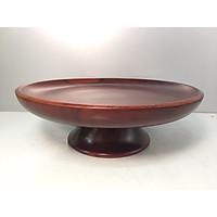 Mâm bồng đĩa đựng hoa quả thờ chất liệu gỗ xà cừ PMDTBG2