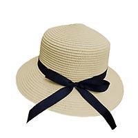 Mũ cói mềm thắt nơ dài - nón cói vành rộng chống nắng, đi biển phong cách