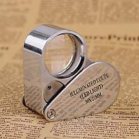 Kính lúp móc khóa phóng đại 30x có đèn 21007 ( Tặng 01 móc khóa tô vít đa năng )