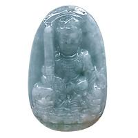 Mặt dây chuyền Văn Thù Bồ Tát Bồ Tát Cẩm Thạch tự nhiên - Phật Độ Mạng cho người tuổi Mão - PBMJAD03 (Mặt kèm sẵn dây đeo)