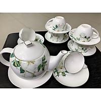 Bộ ấm trà sứ hoa mai