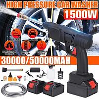 Máy rửa xe Máy rửa xe áp lực cao dùng pin Kèm 2 Pin Chính Hãng