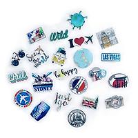 Bộ 20 Sticker Travel Du Lịch Hình Dán Trang Trí Vali Chống Nước Decal Chất Lượng Cao Xe Đạp Xe Máy Xe Điện Motor Laptop Nón Bảo Hiểm Máy Tính Học Sinh Tủ Quần Áo Nắp Lưng Điện Thoại