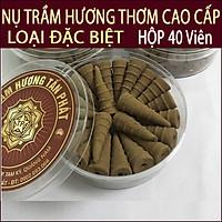 Nụ Trầm Hương thơm Quảng Nam loại Đặc Biệt( Hộp 40 viên + Lư Xông Trầm)
