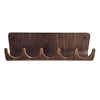 Móc treo quần áo gỗ uốn cong Sunset Wall Rack - Gỗ Walnut