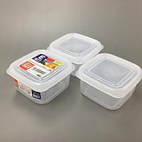 Set 3 hộp chia thức ăn dặm cho bé đa năng tiện dụng ( Bản vuông ) - Hàng nội địa Nhật Bản.