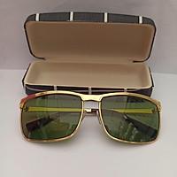 Kính mát nam lịch lãm tròng kính thủy tinh mặt xanh lá tặng hộp đựng