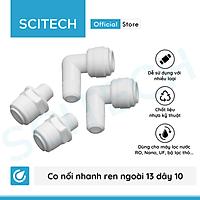 Co nối nhanh ren ngoài 13/17/21 ra dây 6 hoặc ren ngoài 13/17/21 ra dây 10 dùng trong máy lọc nước - Hàng chính hãng