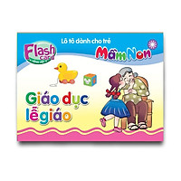 Combo 10 Hộp Flash card - Lô tô cho trẻ mầm non - Chủ đề: Giáo dục lễ giáo