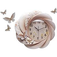 Đồng hồ phù điêu treo tường cối xay gió