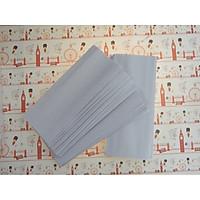 100 túi giấy đựng bánh mì họa tiết trắng