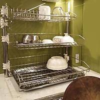 Giá để bát đĩa 3 tầng có khay nước