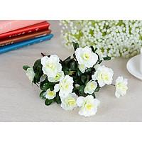 Hoa giả trang trí - 2 cành hoa đỗ quyên Nhật Bản trang trí phòng khách, hoa khô, hoa vải, bông giả