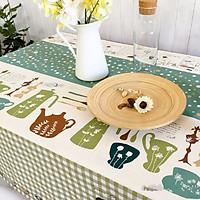Khăn trải bàn sọc chấm bi KB05(140x180cm)