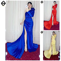 Đầm dạ hội lệch vai hoa hồng kết cườm TRIPBLE T DRESS - size M/L - MS126Y