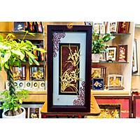 Tranh hoa lan dát vàng (39x69cm) MT Gold Art- Hàng chính hãng, trang trí nhà cửa, phòng làm việc, quà tặng sếp, đối tác, khách hàng, tân gia, khai trương