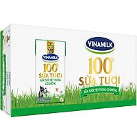 Thùng 48 Hộp Sữa Tươi Tiệt Trùng Vinamilk 100% Có Đường 110ml