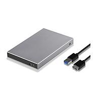 Box chuyển ổ cứng di động SSK HE-V600 chuẩn 3.0 - Hỗ trợ đến 5Gbps (xám) Hàng Nhập Khẩu