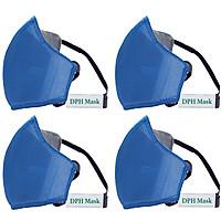 Bộ 4 Khẩu Trang Chống Virus Than Hoạt Tính DPH Mask Chuẩn N95