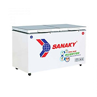 Tủ đông mát SANAKY INVERTER 230 lít VH-2899W4K ĐỒNG (R600A) (kính cường lực)