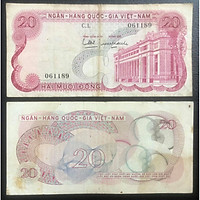 Tiền xưa Việt Nam, tờ 20 đồng Hoa văn