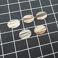 Bộ 5 chiếc Gác đũa Xà Cừ Cửu Khổng hình Oval 3,5cm - Phụ kiện giúp bàn ăn sang trọng (R14)