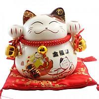 Mèo thần tài nhật bản giơ 2 tay-Kim phúc 9003-19cm