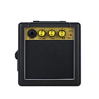 Mini Guitar Amplifier Amp Speaker 5W for Electronic Guitar Personal Practice Portable Black Amplifier with Battery