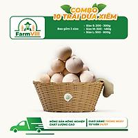 [FARMVILL] [Chỉ Giao HCM] Combo 10 Trái Dừa Xiêm Thượng Hạng Ngọt Nước - Đặc Sản Bến Tre - L