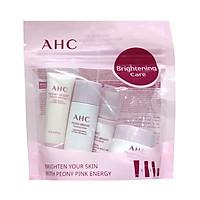 Bộ 4 Món Dưỡng Da Trắng Hồng AHC Peony Bright Trial Kit